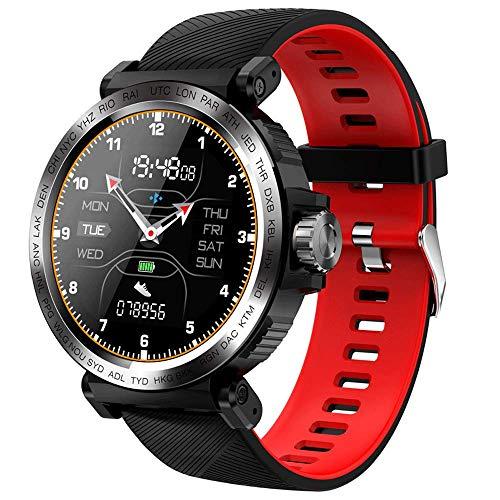 AZPINGPAN Reloj inteligente, IP68, resistente al agua, contador de pasos, pantalla táctil redonda de aleación, recordatorio de llamadas, reloj de pulsera con fotos remotas