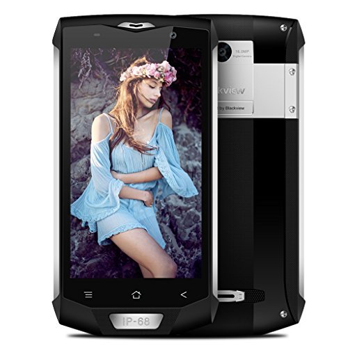 Blackview BV8000 Pro - 4G Smartphone, Outdoor Handy ohne Vertrag (IP68 Wasserdicht, Staubdicht, Stoßfest), 5.0 Zoll, Android 7.0, Octa-core, 6GB RAM 64GB ROM, 4180 mAh, Dual Kamera, Dual SIM (Silber)