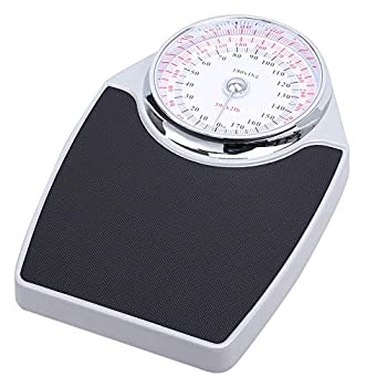 Bathroom Scale Analog Mechanical Bathroom Scales Large Dial Metal Analog Bathroom Scale Easy to Read Sturdy Base Accurate Measurements Up to  180kg  390lb Battery Free