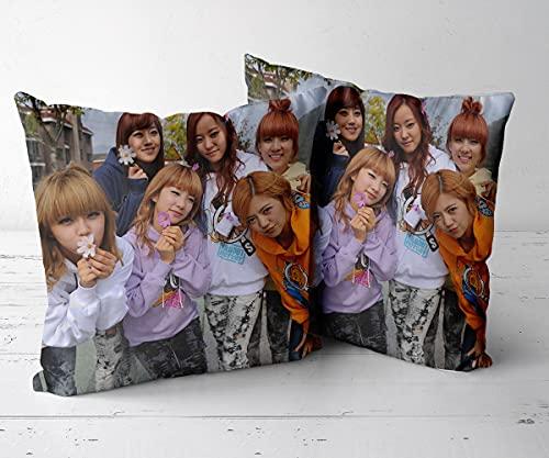 MHCYKJ Zierkissenbezüge Taille Wurf Kopfkissenbezug Dekokissen Kissenhülle Set Kissen Fall für Sofa Auto Schlafzimmer Zuhause Dekor-Rainbow (südkoreanische Band) 1