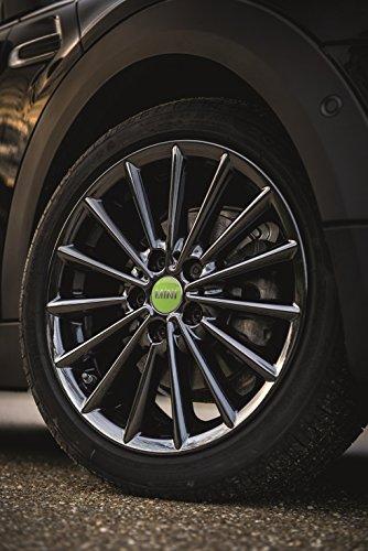 Mini véritable Centre de roue hub Cap couvertures Lot de 4 Vert pomme F55 F65 36132354150