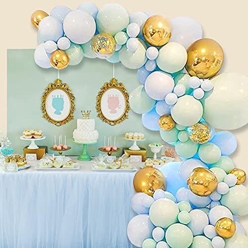 YOTOYOU 124 globos de látex con forma de macarons, color verde menta,...
