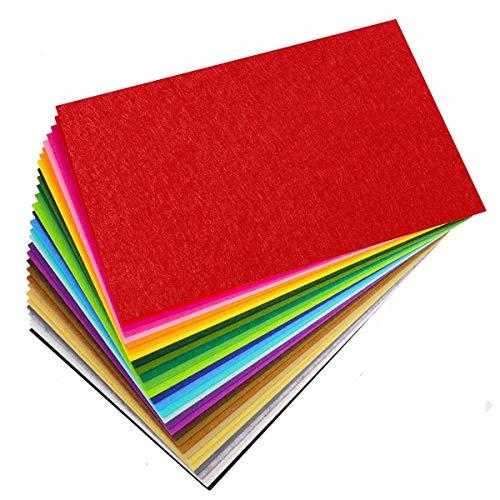 Leixi - Fogli in feltro, 40 colori, 20 x 30 cm, in feltro colorato, per lavori fai da te, artigianato, decorazioni natalizie, per bambini (20 x 30 cm)