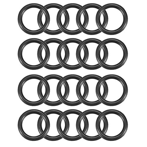 sourcingmap® 20 Stk. Schwarz Silikon O-Ring Dichtung Unterlegscheibe 21mm x 15mm x 3mm de