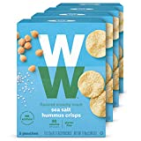 WW Sea Salt Hummus Crisps - Gluten-free, 2 SmartPoints - 4 Boxes (20 Count Total) - Weight Watchers Reimagined