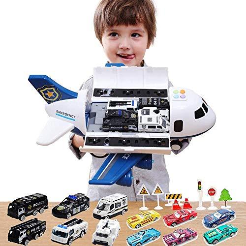 Aleación tirón trasero espacio de transporte eléctrico aviones modelo ligero música civil aviación avión luchador biplano vehículo mejor educación regalo sonido efecto ligero for niños niñas 3 años de