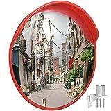 Cific カーブミラー 直径60cm/80cm/100cm ガレージ 道路 曲がり角 安全確保 壁取付金具付き (φ100cm)