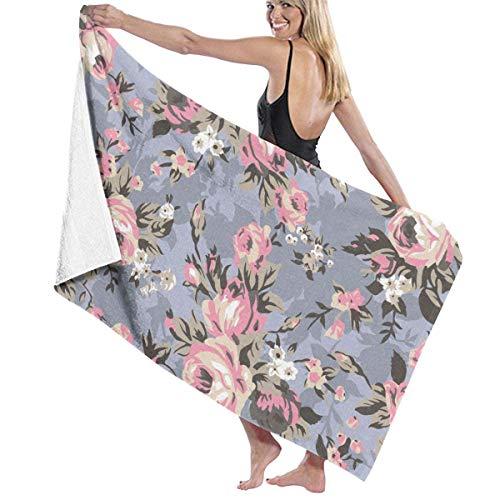 Shabby Chic Granny Vintage Chintz Floral Personalisiert 100% Polyester Strandtuch Stuhl dick weich schnell trocknend leicht saugfähig Handtuch Decke 81,3 x 132,1 cm
