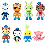 8PCS/Set Octonauts Action Figure Toy Captain Barnacles Penguin Mini Doll Kids,Cake Toppers Picks for Kids Birthday Party