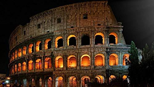 Legpuzzel Voor Volwassenen 1000 Stukjes, Colosseum In Roma, Het Platform Nacht Uitzicht,Puzzel Spelletjes Woondecoratie Cadeaus