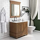 """Dorel Living Monteray Beach 36 Inch, Natural Rustic Bathroom Vanity, 36"""""""