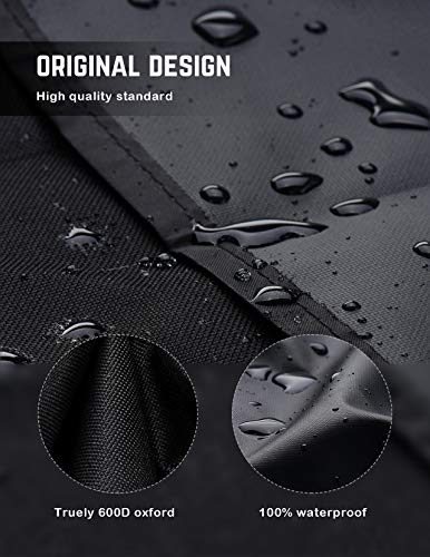 Homitt 600D 64-inch Heavy Duty Waterproof BBQ Grill Cover