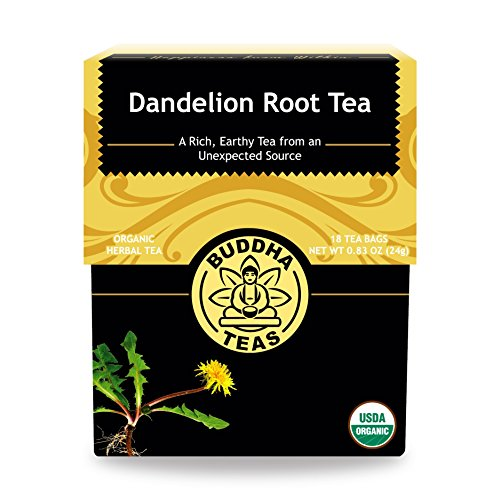 Organic Dandelion Root Tea – 18 Bleach-Free Tea Bags – Caffeine-Free Tea with a Rich, Earthy Taste, Natural Source of Vitamins, Minerals, and Antioxidants, Kosher, GMO-Free