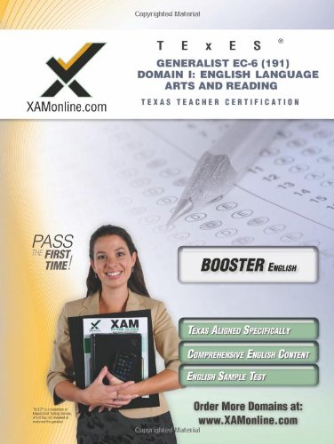 Texes Generalist Ec 6 191 English Language Arts And Reading Boost Edition