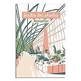 ASFGH Vintage Poster Montpellier Garten der Pflanzen Dekor
