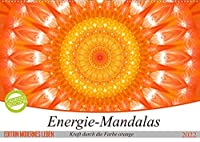Energie - Mandalas in orange (Wandkalender 2022 DIN A2 quer): Editionskalender Energie-Mandalas in orange von Christine Baessler (Monatskalender, 14 Seiten )
