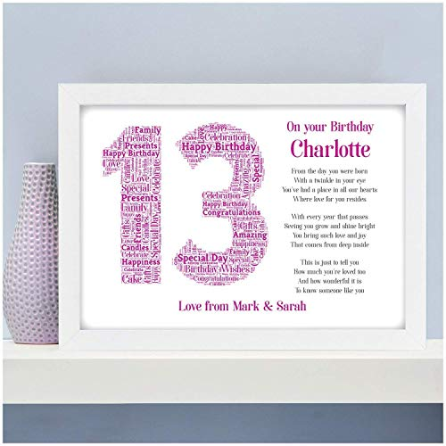 Personalised 13th 16th 18th 21st Birthday Gifts for Her Daughter Sister Girls Best Friends Boys Son...