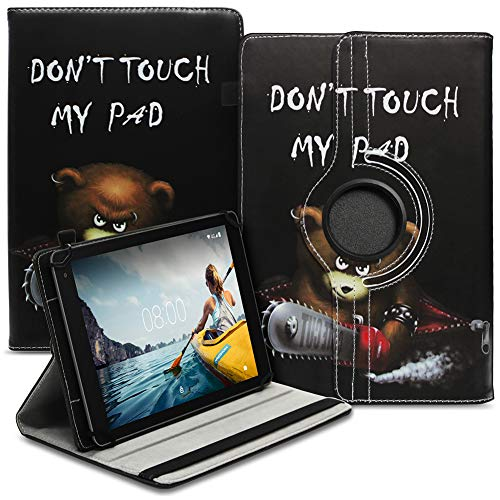 Tablet Hülle kompatibel für Medion Lifetab E6912 Tasche Schutzhülle Hülle Cover aus Kunstleder Standfunktion 360° Drehbar, Farben:Motiv 9