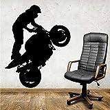 WERWN Papel Pintado del Art déco del Vinilo de la Motocicleta de los Deportes Extremos para la Sala de Estar