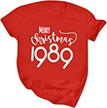 QueenMM Womens Funny Christmas T-Shirt Casual Long Sleeve Graphic Raglan Baseball Tees Casual Tops Fall Clothes