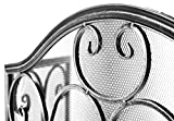 Kobolo Kaminschutzgitter Funkenschutz aus Metall schwarz Silber gebürstet 85 cm hoch - 4