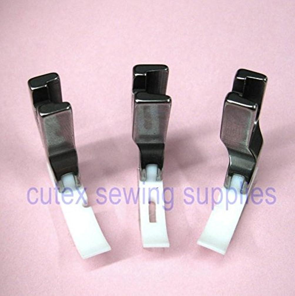 CUTEX SEWING High Shank Teflon Narrow Zipper Foot Set - Center, Left & Right Presser Foot