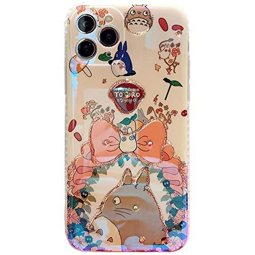 AZUOYI Carcasa compatible con iPhone x/xr/11/12, fundas para iPhone 12 Pro para niñas, diseño de anime, a prueba de golpes, antideslizante, para iPhone XS/X