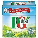 PG Tips Premium Black Tea, Black Tea Pyramid Bags, 40 ct