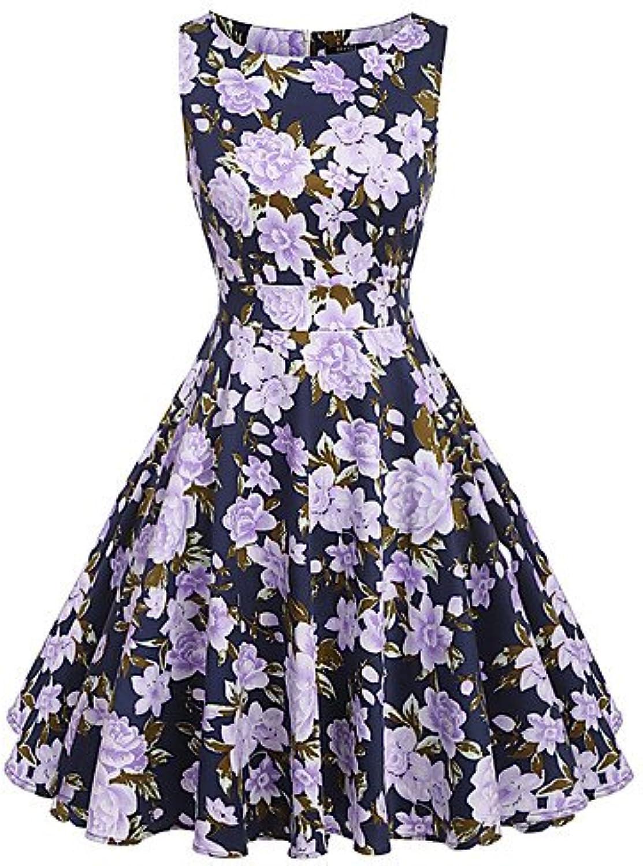 JIALE3536 Ladies Dress,Short Sleeve,Sleeveless Women'S Party Dress,Round Neck Sleeveless