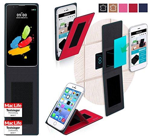 reboon Hülle für LG Stylus 2 (DAB+) Tasche Cover Case Bumper   Rot   Testsieger