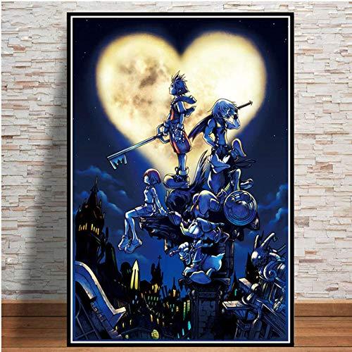 Bmstjk Puzzle, Película 1000 Piezas Rompecabezas de Madera, Brain Challenge Puzzles Juegos interactivos Familiares - Kingdom Hearts