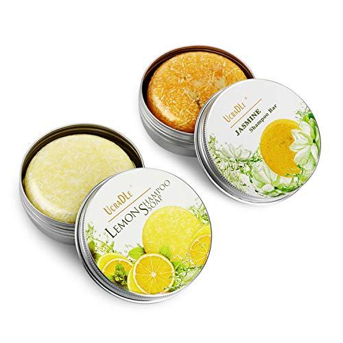 Ucradle Haar Shampoo Bar - Anti Schuppen und Öl-Kontrolle, 100% Natürliches Organisches Pflanzliches Seifenhaar, Haarreinigung und Feuchtigkeitspflege für trockenes und geschädigtes Haar, 2 Packungen