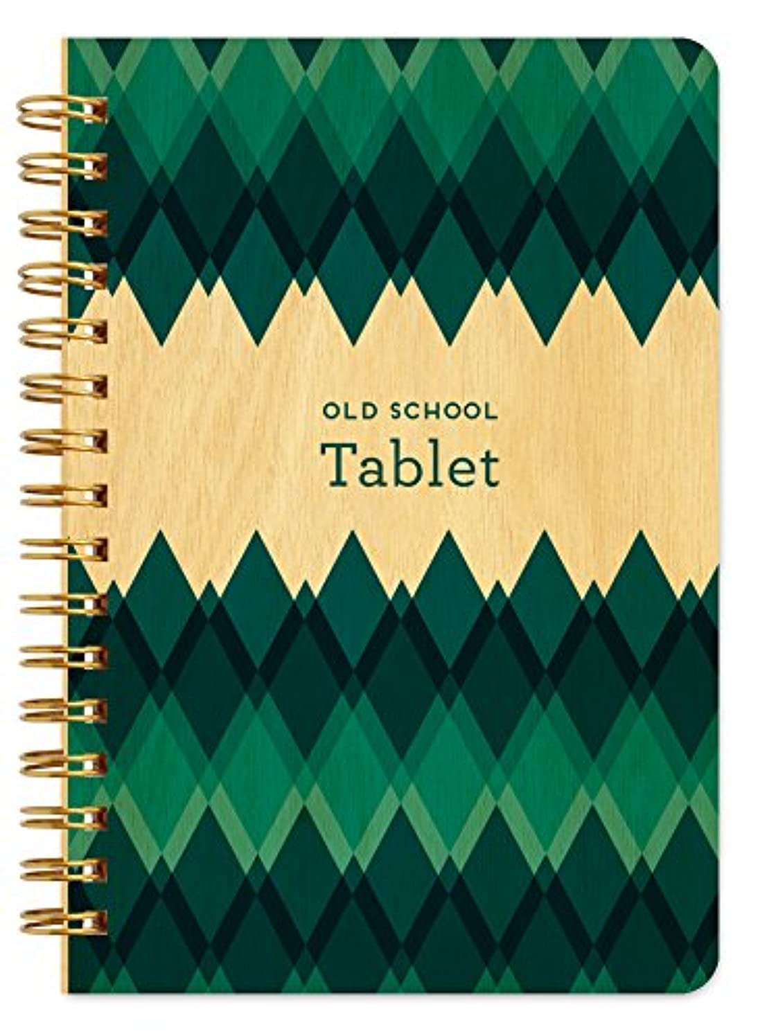 Old School Tablet Pocket-Size Wooden Notebook By Night Owl Paper Goods