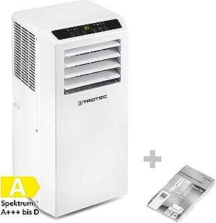 TROTEC Aire Acondicionado Portátil PAC 2010 SH + Aislamiento de Ventanas AirLock 100/4 en 1: Refrigeración, Calefacción, Ventilación y Deshumidificación/Mando a Distancia/Termostato/Hasta 26m²