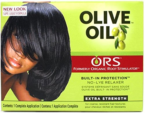 Organic Root Stimulator Olive Oil No Lye Relaxer Kit, Extra Strength (Pack of 3)
