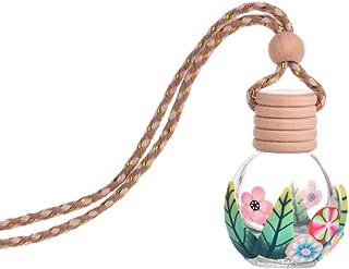shyymaoyi Leere Parfümflasche aus Glas, tragbar, zum Aufhängen, Autodekoration, zufällige Farbe