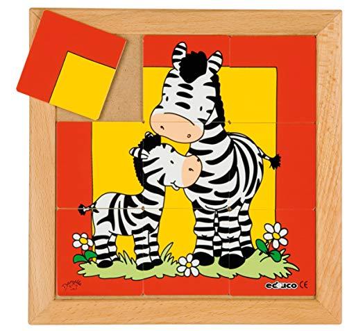 Animali puzzle mamma e bambino – Zebra