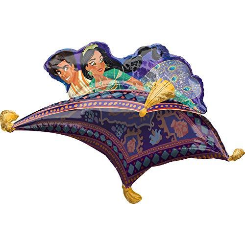 amscan 3915301 Aladdin Flying Magic Ballon en aluminium pour tapis Multicolore