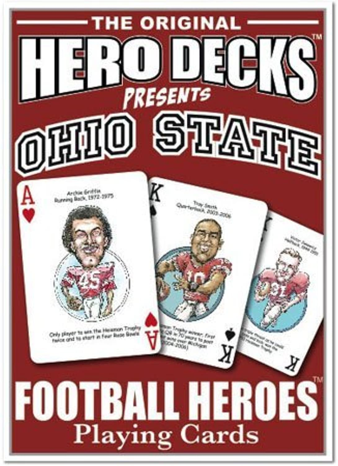 1 X Hero Decks - Ohio State - Playing Cards by Channel Craft