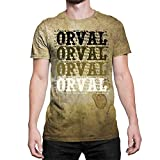 Idakoos Orval Retro Vintage - T-Shirt 3D Homme Polyester Nouveauté 2XL
