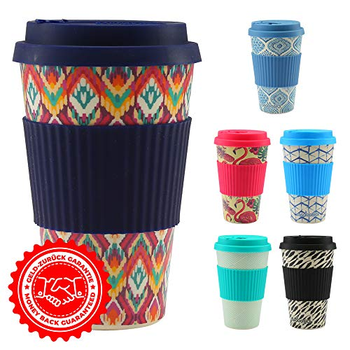 CasaBasics Tazza Termica in bambù per Caffe Americano | Riutilizzabile, Biodegradabile, Riciclabile, Ecologica, Vegana | 450 ml / 15 oz | Lavabile in