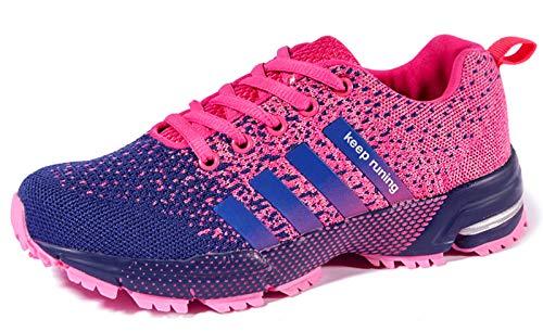 ALSYIQI Zapatillas de correr para hombre, ligeras, deportivas, para gimnasio, correr, caminar, tenis para mujer, morado (A-púrpura), 39 EU