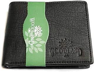 Wood-land Wallet for Mens Black Leather Regular Purse Black (1)