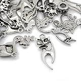 Paket 30 Gramm Antik Silber Tibetanische ZufälligeMischung Charms (Katze) - (HA07905) - Charming Beads