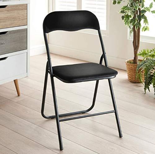 A2Z Home Solutions - Silla Plegable de Terciopelo para Comedor, Oficina y jardín, Color Negro