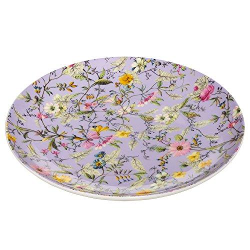 Maxwell & Williams Kilburn Winter Bloom, 20 cm, Geschenkbox, Porzellan, WK11520 Teller, lila, bunt, 20 x 20 x 2 cm