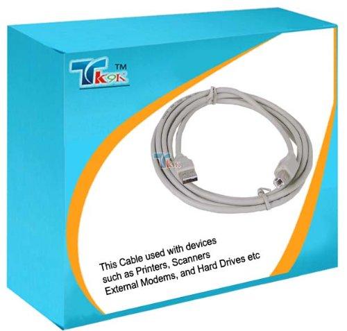 TK9K - Cavo USB stampante, versione 2.0, da USB A a USB B, lunghezza: 5 m