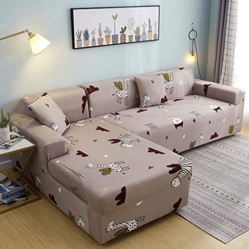 FYBDZCN Sofá Slipcovers Elasticidad Jacquard Cubiertas De Sofá Forma L Sofá Sofá Cubre Esquina Sofá Protección De Muebles Cubrir I Sofá-4 Plazas235-300cm(93-118inch)
