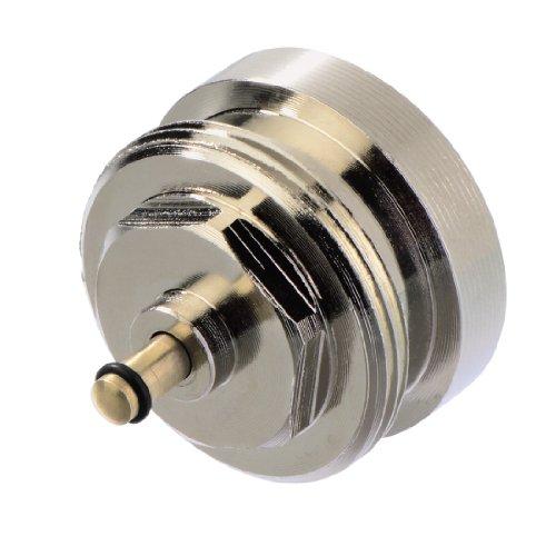 Xavax Adapter (geeignet für Heizkörperventile mit M28 x 1.5 mm Anschlussgewinde, Montage von elektronischen Ventilantrieben mit Anschlussgewinde M30 x 1,5 mm) messing