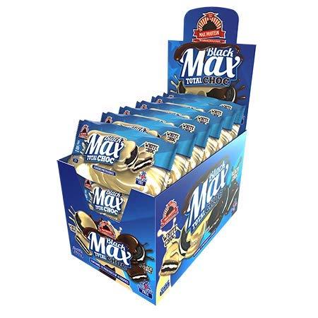 MAX PROTEIN GALLETA BLACK MAX (12x4 UDS) - WHITE CHOC